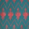 Gift Wrap - Ikat - Viridian/Red