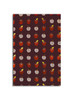 Gift Wrap - Apples - Eggplant/Red Metallic Silver