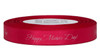 "White ink ""Happy Mother's Day!"" on Bougainvillea Ribbon - Double Faced Satin Sayings"