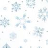Gift Wrap - Snowflakes - White/Metallic Light Blue/Metallic Silver