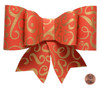 Paper Bow Topper - Flourish Gold/Red