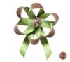 Velvet Satin Flower Topper - Feather Velvet/Sycamore Satin