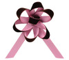 Velvet Satin Flower Topper - Chocolate Velvet/Petal Satin