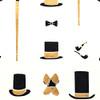 Gift Wrap - Gentleman - Cream/Metallic Black and Gold