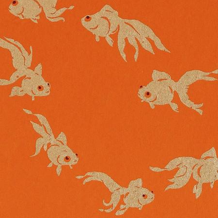 Gift Wrap - Goldfish - Orange