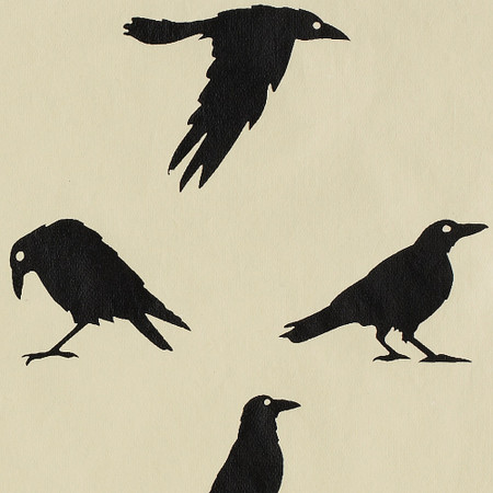 Gift Wrap - Crows - Cream