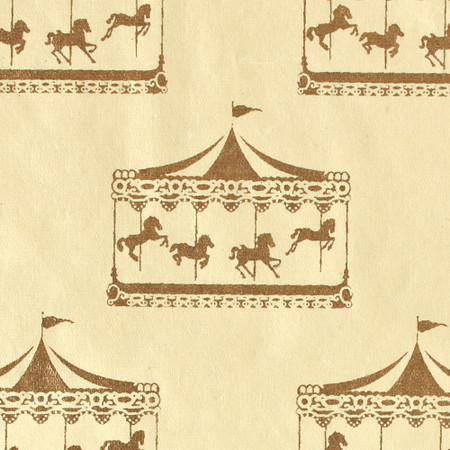 Gift Wrap - Carousel - Cream