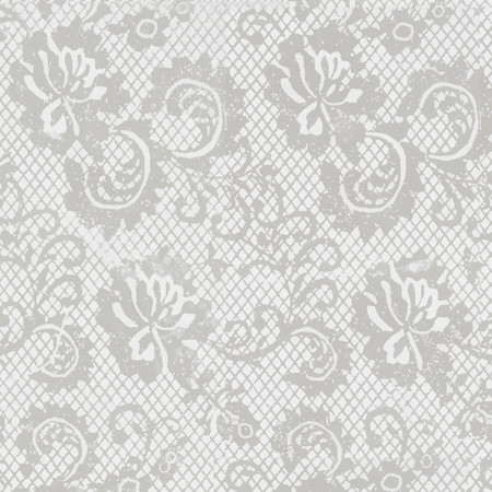 Gift Wrap - Lace - White/Metallic White