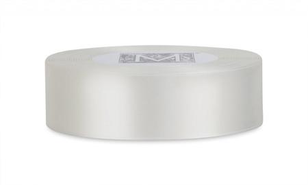 Custom Printing on Double Faced Satin Ribbon - Alabaster