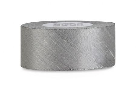 Dupioni Silk Ribbon - Pewter