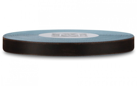 Velvet Satin Ribbon - Chocolate Velvet/Blue Satin