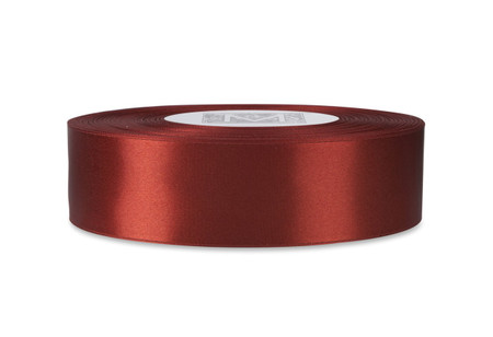 Custom Printing on Double Faced Satin Ribbon - Venetian Red