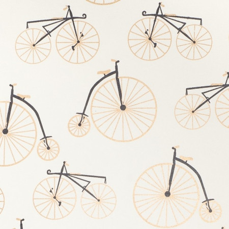 Bicycles – Cream/Gold & Black Metallic