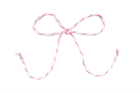 Baker's Twine - Pink & White