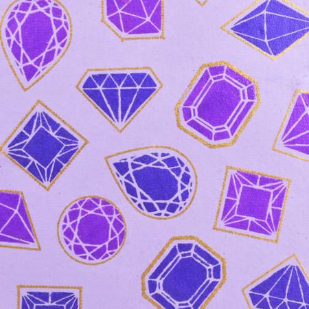 Jewels - Lilac/Purple and Metallic Gold