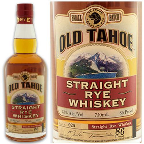 Old Tahoe Straight Rye Whiskey 750ml
