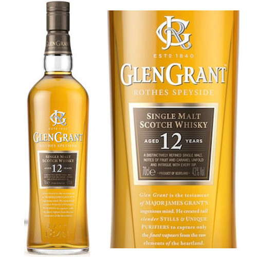 Glen Grant 12 Year Old Speyside Single Malt Scotch 750ml