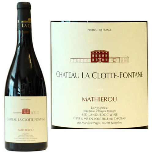 Chateau La Clotte-Fontane Coteaux du Languedoc Mathierou Red