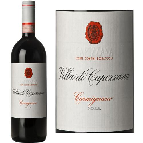 12 Bottle Case Capezzana Carmignano Villa di Capezzana DOCG 2013 Rated 92WS w/ Free Shipping