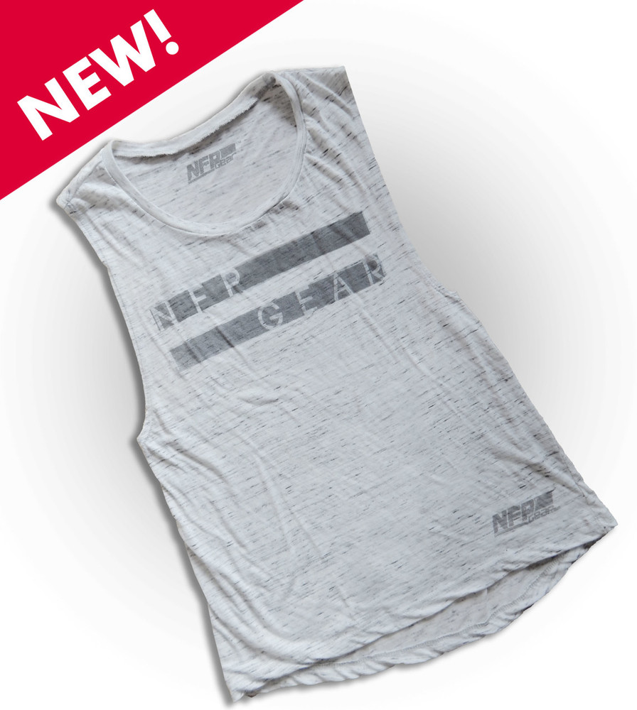 This on-trend white marble muscle tank fits like a well-loved favorite, featuring an irresistibly soft poly-cotton blend, and crew neck. Cut to flatter the female figure no matter what size. 91% polyester, 9% combed and ring-spun cotton, 30 single 4.0 oz.
