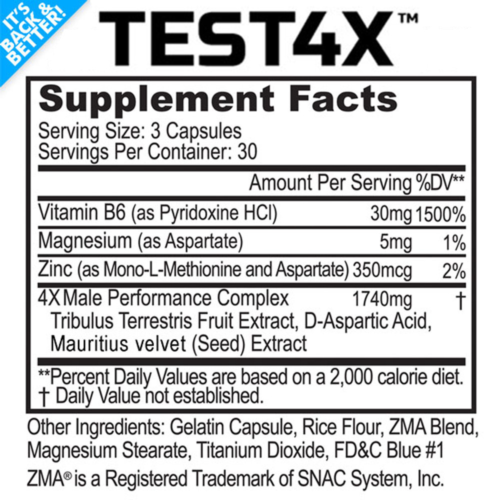 Test 4X™ - Testosterone Booster