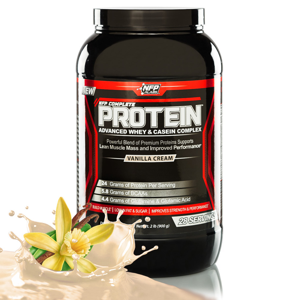 NFP Complete Protein - Vanilla, Contains three kinds of protein for ultimate effectiveness.