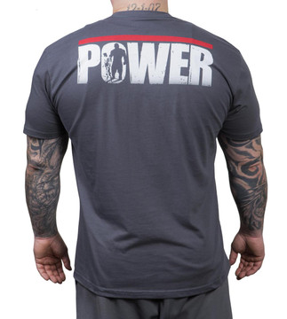 NFP Power T-Shirt Charcoal Men's - Back