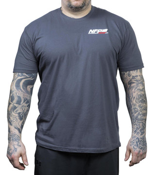 NFP Power T-Shirt Charcoal Men's - Front