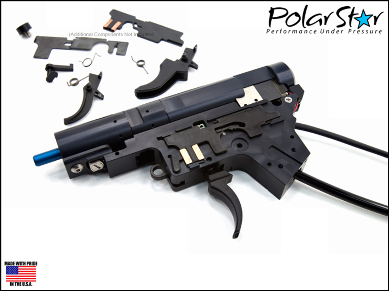 Polar Star Fusion Engine Player Kit V2 GEN 3 (M4/M16) with red Flow Poppet
