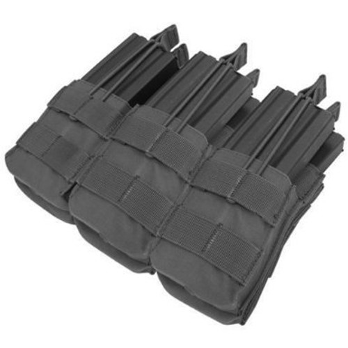 Tactical Molle Triple Stacker M4 Mag Pouch - Black MA44-002
