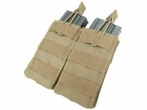 Tactical Molle Double M4 Mag Pouch - Tan