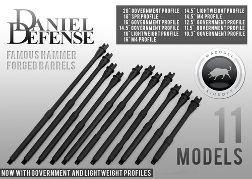 """Madbull Airsoft DD licensed 18"""" Government Profile - Rifle"""