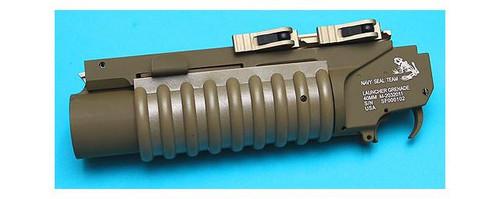 G&P Airsoft Quick Lock QD M203 Grenade Launcher - Extra Short / Dark Earth