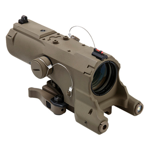 ECO MOD2 4X34 Scope w/GRN Laser/NAV LED /TAN