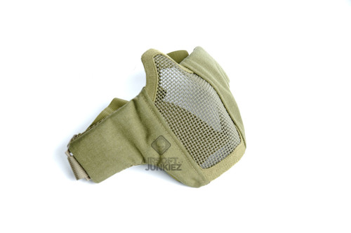 Mesh Foldable Lower Half Face Mask  - Tan