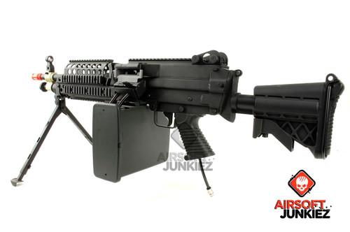 Airsoftjunkiez PolarStar F2 Custom MK46 with Box Mag Shooting 400+ FPS