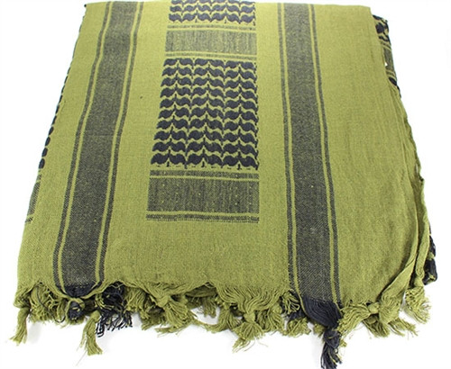 WOVEN COALITION SHEMAGH / SCARVES 42X42 - OD/BLACK