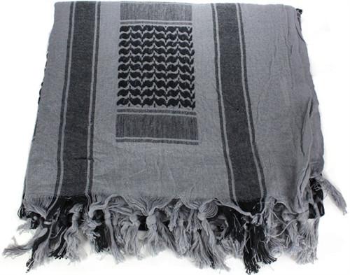 WOVEN COALITION SHEMAGH/SCARVES 42X42 - KHAKI/BLACK