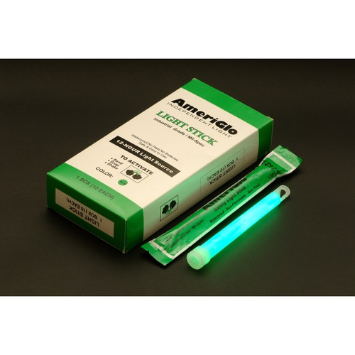 "Ameriglo 6"" 12hr. Green Light Stick -- Single"