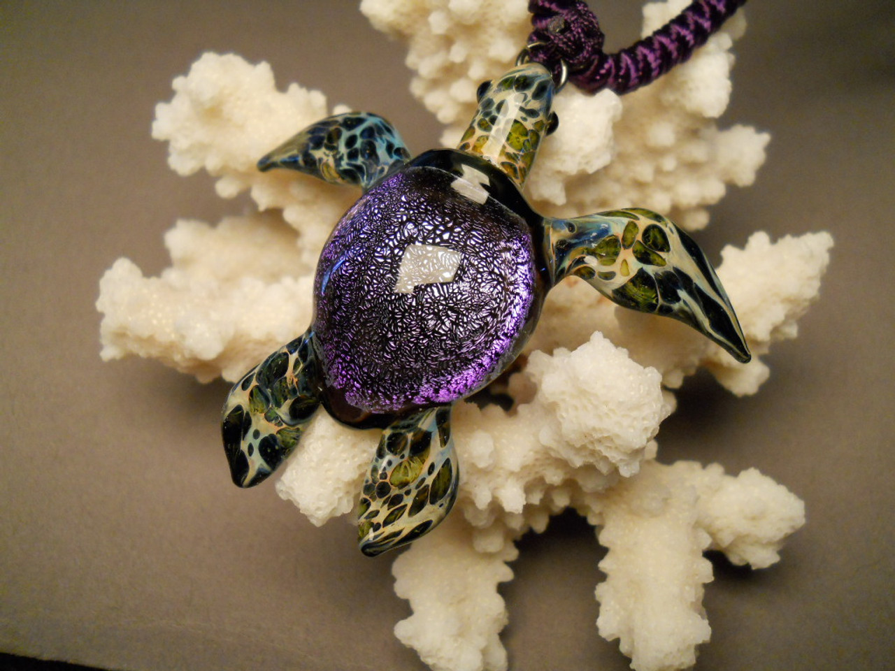 Sea turtle pendant honu blown glass jewelry sea turtle pendant mozeypictures Images