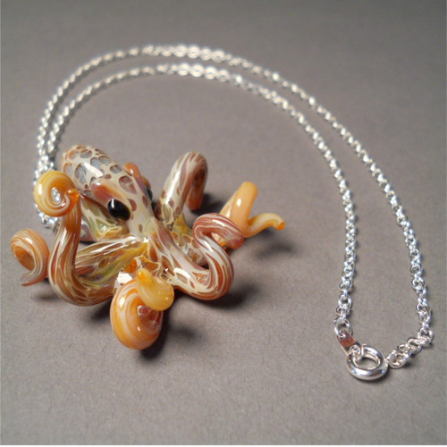 Octopus with Silver Chain