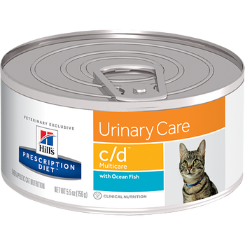 Hill's Feline c/d Multicare with Ocean Fish (24 x 5.5 oz. Cans)