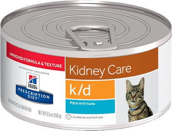 Hill's Feline k/d Pate with Tuna (24 x 5.5 oz. Cans)