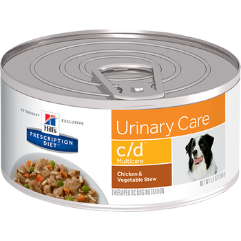 Hill's Canine c/d Chicken & Vegetable Stew (24 x 5.5 oz. Cans)
