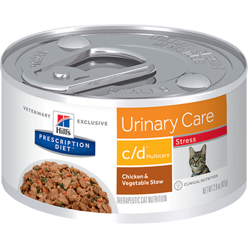 Hill's Feline c/d Urinary Stress Chicken & Veg. Stew (24 x 2.9 oz. Cans)