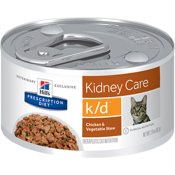 Hill's Feline k/d Chicken & Vegetable Stew (24 x 2.9 oz. Cans)