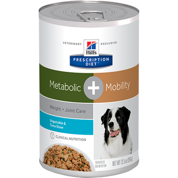 Hill's K9 Metabolic + Mobility Veg. & Tuna Stew (12 x 12.5 oz. Cans)