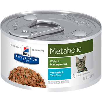 Hill's Feline Metabolic Vegetable & Tuna Stew Cans (24 x 2.9 oz.)