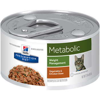 Hill's Feline Metabolic Vegetable & Chicken Stew Cans (24 x 2.9 oz.)