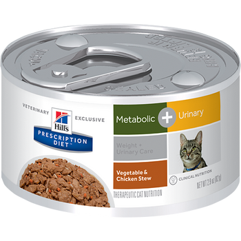 Hill's Feline Metabolic + Urinary Care Cans (24 x 2.9 oz.)
